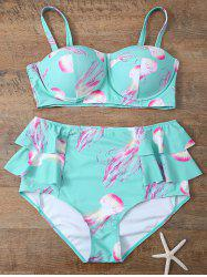 Cami High Waisted Flounced Push Up Bikini Set