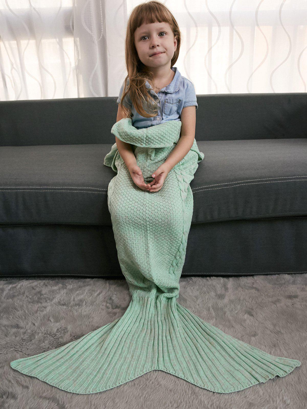Outfits Keep Warm Crochet Knitting Mermaid Tail Style Blanket For Kids