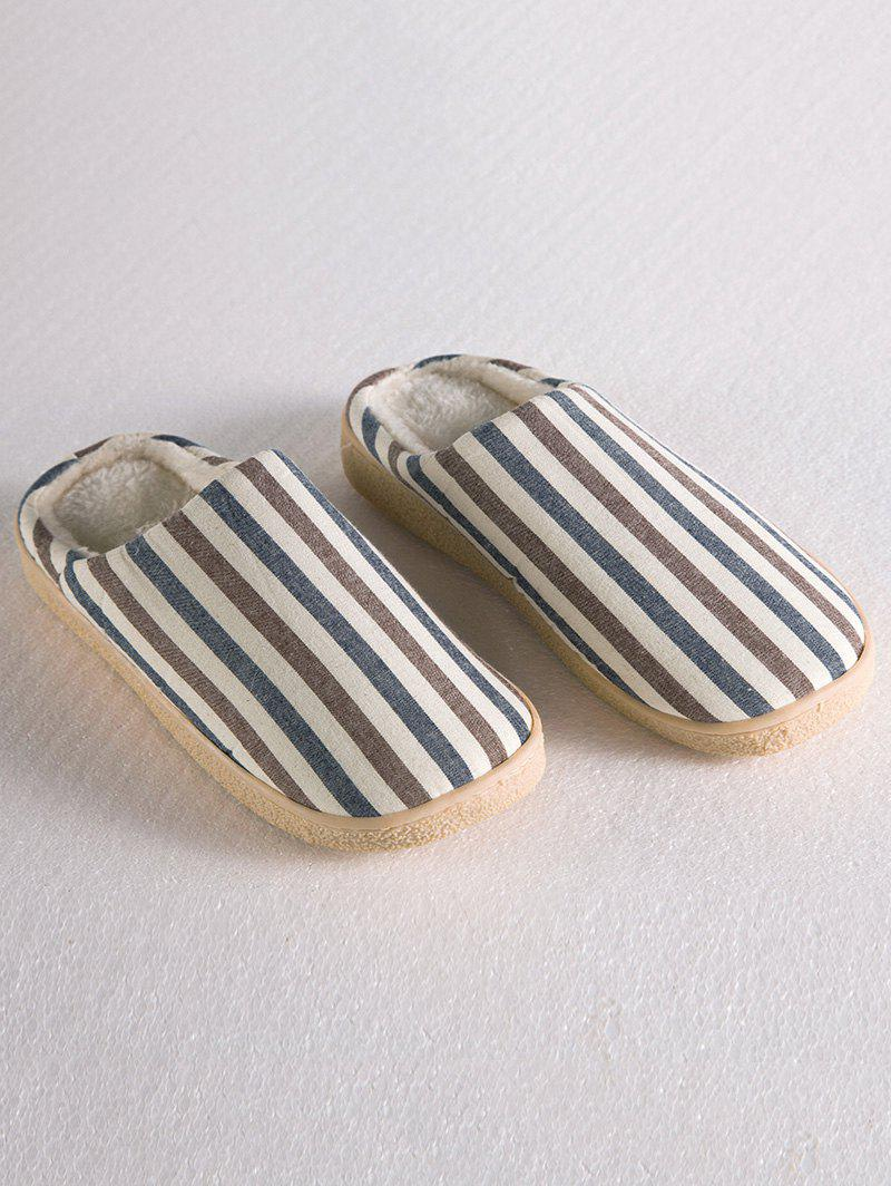 Hot Flat Heel Stripe House Slippers