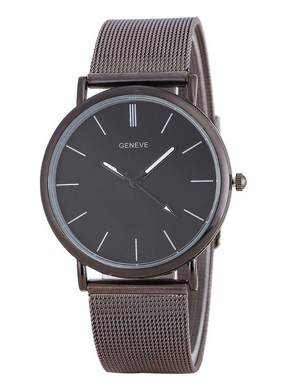 Metal Mesh Band Analog WatchJEWELRY<br><br>Color: FROST; Gender: For Men; Style: Formal; Type: Quartz watch; Index Dial: Analog; Case material: Alloy; Band material: Alloys; Movement: Quartz; Dial Shape: Round; Water-Proof: No; Case Thickness(MM): 0.8cm; Band Length(CM): 23cm; Band Width(CM): 1.8cm; Package Contents: 1 x Watch;