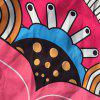 Round Beach Throw with Big Handpainted Floral Printed -