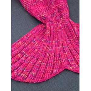 Garder au chaud Crochet Yarn Mermaid Blanket Throw -