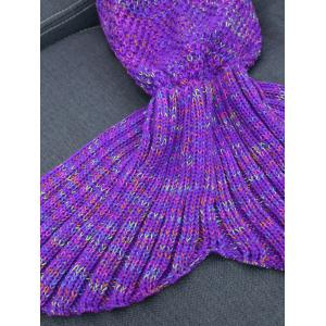 Keep Warm Crochet Yarn Mermaid Blanket Throw -