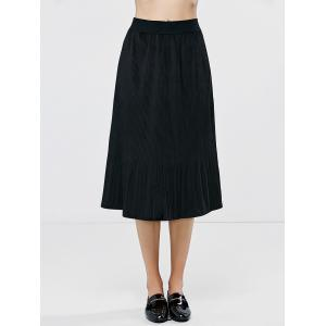 Pleated High Waist Ruffle Skirt