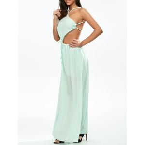 Chiffon Low Back Cut Out Maxi Dress