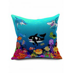 Cartoon Ocean Animal Square Sofa Throw Pillowcase