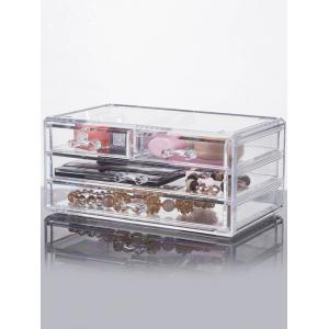 Drawer Jewelry Box Makeup Organizer - Transparent