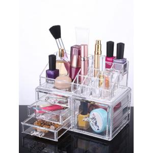 Desktop Jewelry Box Drawer Makeup Organizer - Transparent