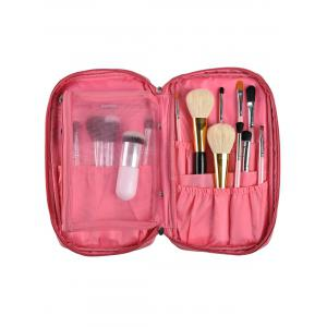 Zip Up Travel Makeup Storage Bag - Pink
