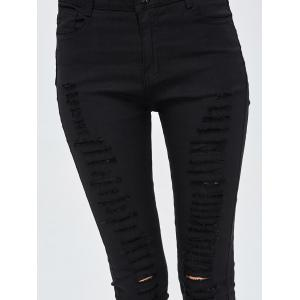High Rise Destroyed Jeans -
