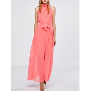 Maxi Long Chiffon Sheer Swing Prom Party Dress