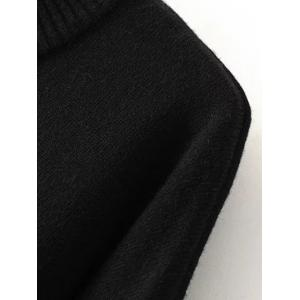 Crew Neck Embroidered Sweater - BLACK L