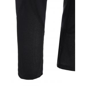 Mesh Panel Sporty Capri Leggings -