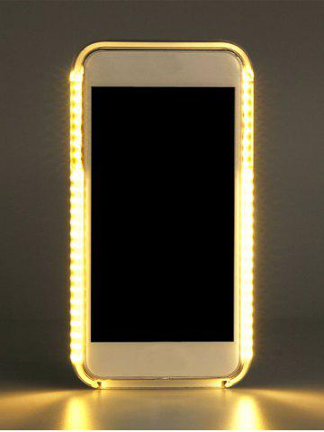 Affordable Selfie LED Flashlight Luminous Phone Cover For iPhone - FOR IPHONE 6 PLUS / 6S PLUS GOLDEN Mobile