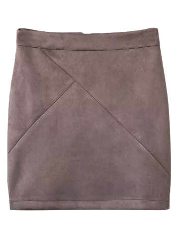 Trendy Mini Faux Suede Skirt