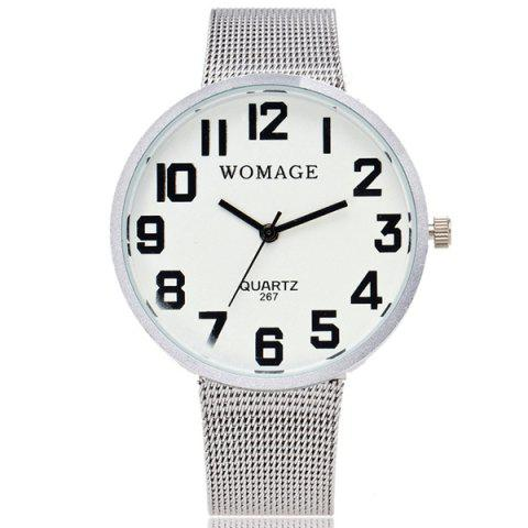 Stainless Steel Quartz Wrist Watch - White
