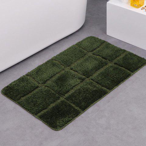 Fashion Gingham Plaid Skidproof Water Absorbent Rug - ARMY GREEN  Mobile
