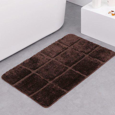 Shops Gingham Plaid Skidproof Water Absorbent Rug - DARK COFFEE  Mobile