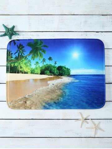 Buy Beach Landscape Soft Absorbent Antislip Bath Door Carpet - Ocean Blue