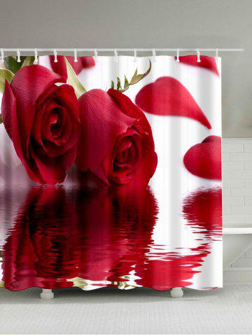 Outfit Roses Inverted Image Print Vivid Shower Curtain ROSE