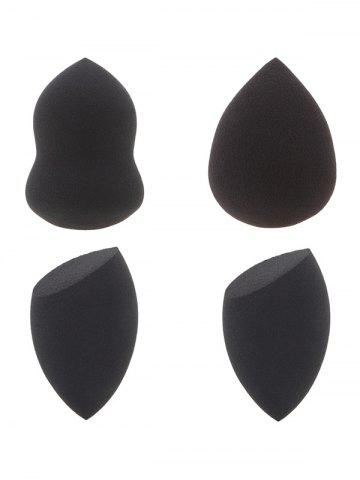 4 Pcs Water Swellable Makeup Sponges - Black