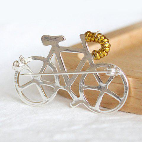 Chic Bicycle Brooch - WHITE  Mobile