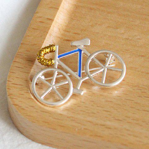Sale Bicycle Brooch - WHITE  Mobile