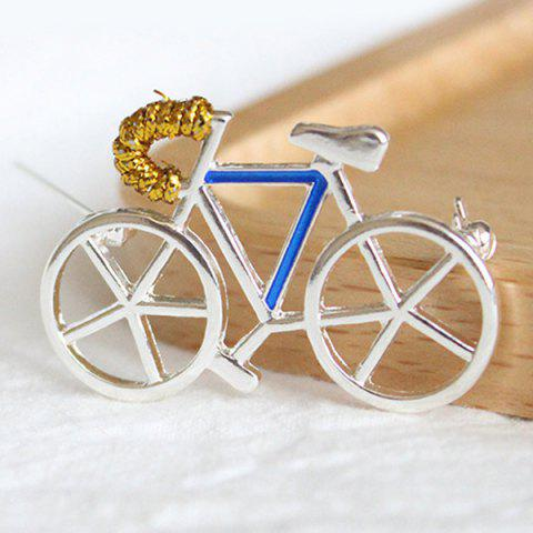 Cheap Bicycle Brooch - WHITE  Mobile