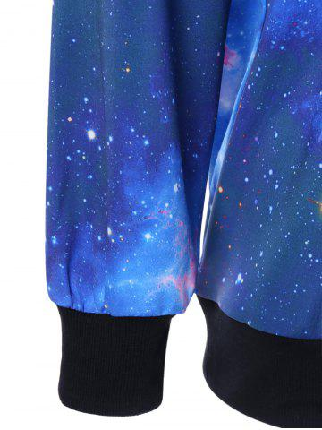 Outfit Crew Neck 3D Galaxy Print Sweatshirt - XL BLUE Mobile