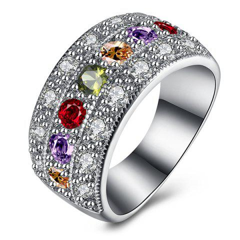 Affordable Artificial Gem Rhinestone Round Ring