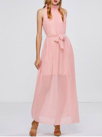 Hot Maxi Long Chiffon Sheer Swing Prom Party Dress - ONE SIZE PINK Mobile