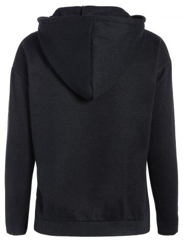 Best Zipped Pullover Hoodie - 2XL BLACK Mobile