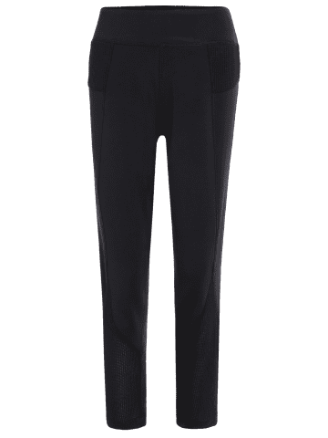 Outfits Mesh Panel Sporty Capri Leggings