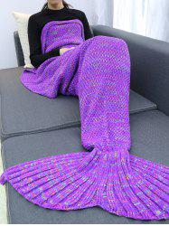 Keep Warm Crochet Yarn Mermaid Blanket Throw
