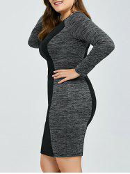 Heather Trim Sheath Dress
