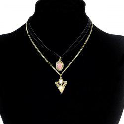 Faux Gem Triangle Round Necklaces