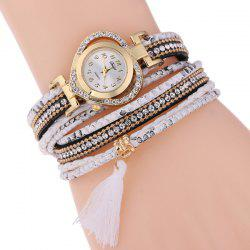 Heart Rhinestone Tassel Bracelet Watch
