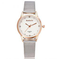 Stainless Steel Rhinestone Analog Watch