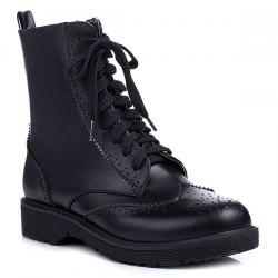 Wingtip Tie Up Ankle Boots