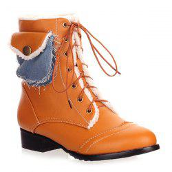 Tie Up Pocket Ankle Boots