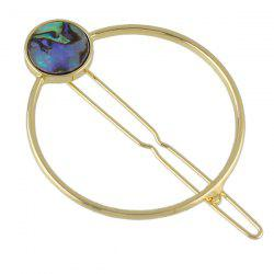 Hairpin with Faux Gem Stone Inlay Hollow Hoop