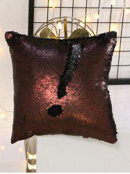 DIY Two Tone Glitter Sequins Sofa Decorative Pillowcase - COLORMIX