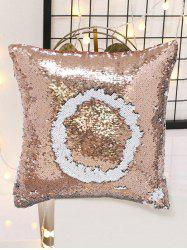 Double Color Glitter Sequins DIY Home Decor Pillowcase - APRICOT
