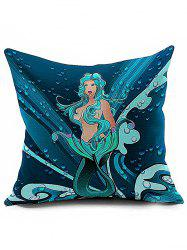 Mermaid Pattern Cushion Cover Throw Pillowcase