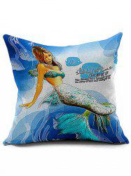Sea Mermaid Throw Sofa Decorative Pillowcase - COLORMIX