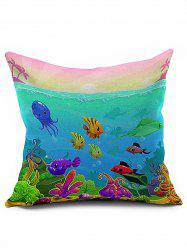 Ocean Animal Short Plush Throw Pillowcase