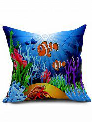 Sea Coral Fish Pattern Sofa Cushion Cover Pillowcase