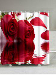 Roses Inverted Image Print Vivid Shower Curtain - ROSE