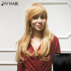 Siv Hair Long Inclined Bang Slightly Curled Human Hair Wig