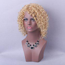 Short Side Parting Shaggy Kinky Curly Bob Human Hair Wig